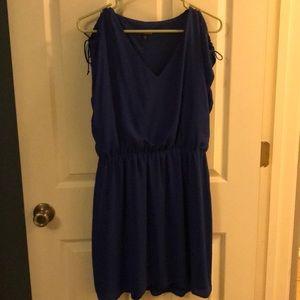 Cute blue flowy dress from Express